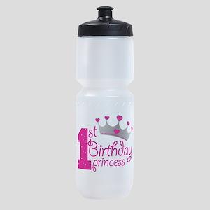 1st Birthday Princess Sports Bottle