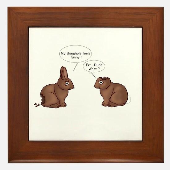 Chocolate Bunnies Framed Tile