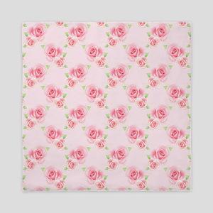 Pink Roses Queen Duvet