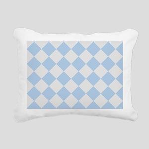 Light Blue Diamond Checkered Rectangular Canvas Pi