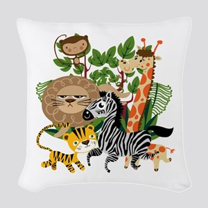Animal Safari Woven Throw Pillow