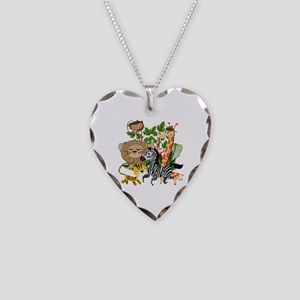 Animal Safari Necklace Heart Charm
