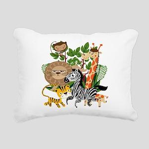 Animal Safari Rectangular Canvas Pillow