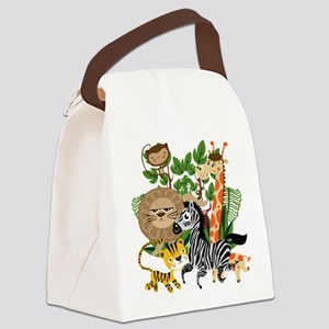 Animal Safari Canvas Lunch Bag