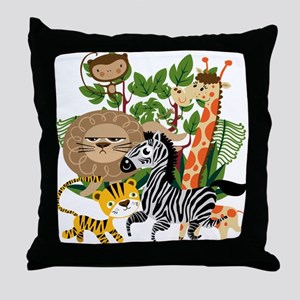 Animal Safari Throw Pillow