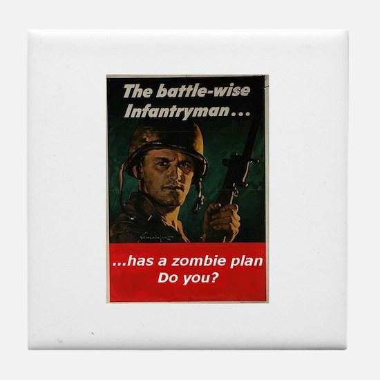 Infantry zombie Tile Coaster