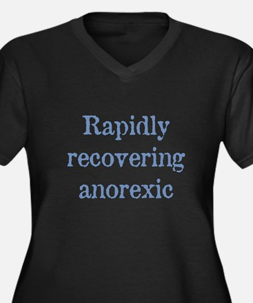 Recovering Anorexic Women's Plus Size V-Neck Dark