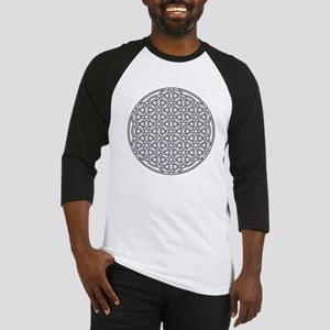 Flower of Life Single White Baseball Jersey