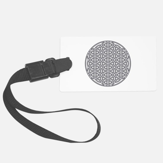 Flower of Life Single White Luggage Tag