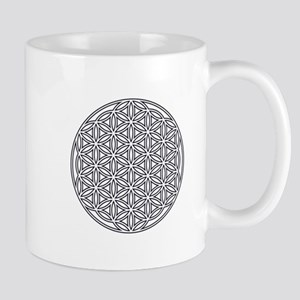 Flower of Life Single White Mug
