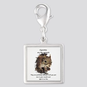 Quit Smoking Motivational Fun Squirrel Charms