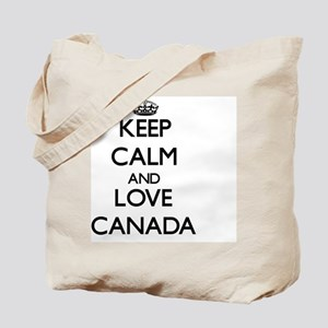 Keep Calm and Love Canada Tote Bag