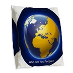 Who Are You People? Burlap Throw Pillow
