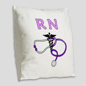 RN Nurse Medical Burlap Throw Pillow