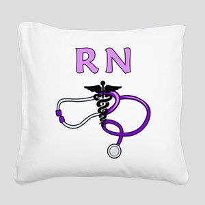 RN Nurse Medical Square Canvas Pillow