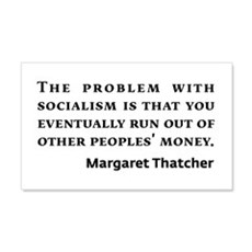 Socialism Margaret Thatcher Quote Wall Decal
