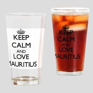 Keep Calm and Love Mauritius Drinking Glass