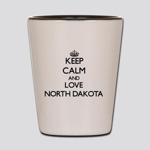 Keep Calm and Love North Dakota Shot Glass