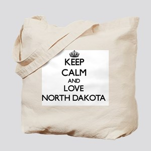 Keep Calm and Love North Dakota Tote Bag