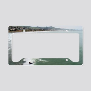 Surfers at Cayucos License Plate Holder