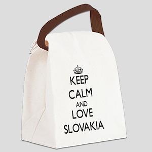 Keep Calm and Love Slovakia Canvas Lunch Bag