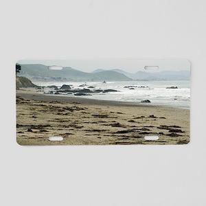 Seascape towards morro bay Aluminum License Plate
