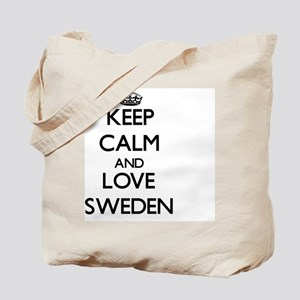 Keep Calm and Love Sweden Tote Bag