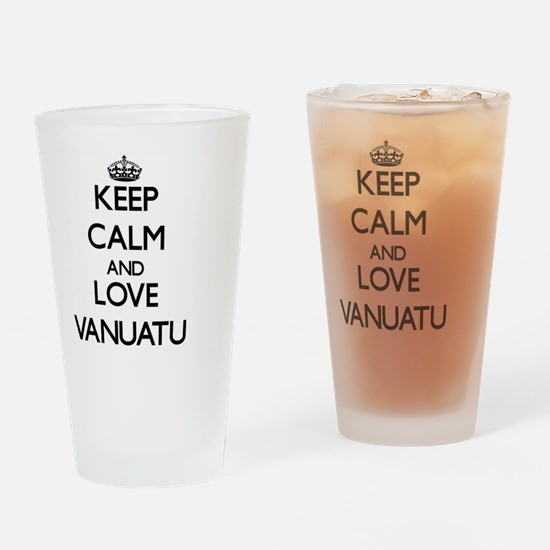 Keep Calm and Love Vanuatu Drinking Glass
