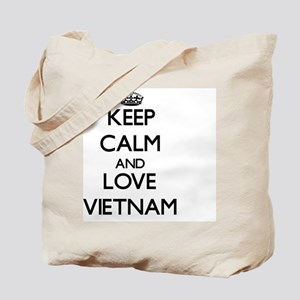 Keep Calm and Love Vietnam Tote Bag