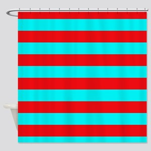 teal striped shower curtain. Red And Teal Striped Shower Curtain Horizontal Curtains  CafePress