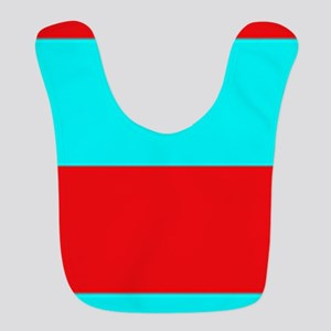 Red and Teal Striped Bib