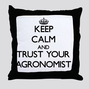 Keep Calm and Trust Your Agronomist Throw Pillow