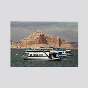 Houseboat, Lake Powell, Arizona,  Rectangle Magnet
