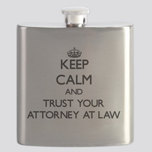 Keep Calm and Trust Your Attorney At Law Flask