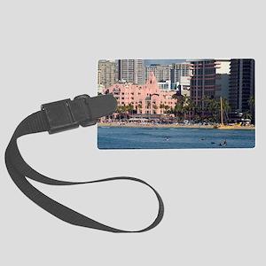 Waikiki Famous hotels Large Luggage Tag