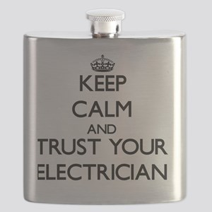 Keep Calm and Trust Your Electrician Flask