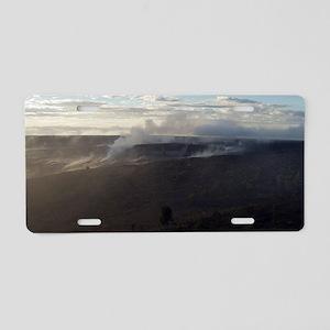 Volcanoes steam cloud Aluminum License Plate