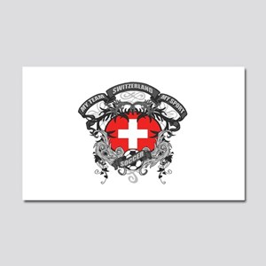 Switzerland Soccer Car Magnet 20 x 12