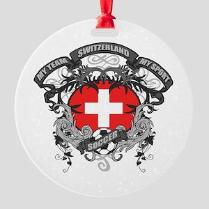 Switzerland Soccer Round Ornament