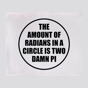 The Amount Of Radians In A Circle Stadium Blanket