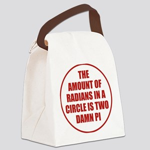 The Amount Of Radians In A Circle Canvas Lunch Bag
