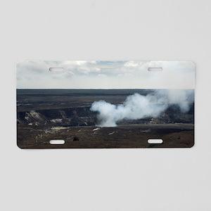 Halemaumau crater smoke Aluminum License Plate