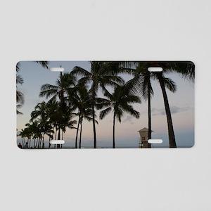 honolulu palms Aluminum License Plate