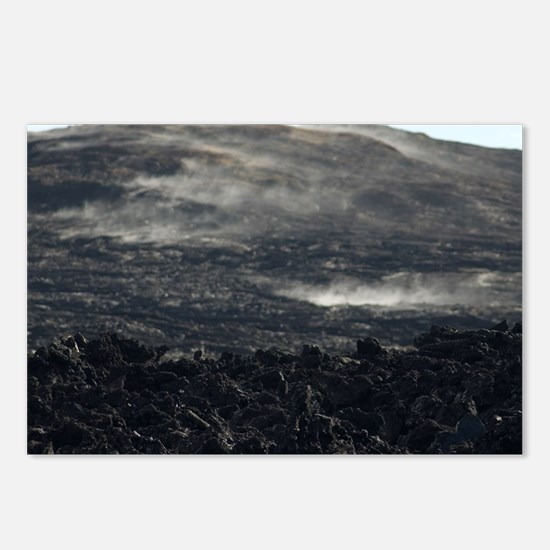 volcanic smoke hill Postcards (Package of 8)