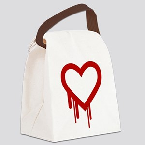HeartBleed Canvas Lunch Bag