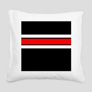 Team Colors 2...red,white and black Square Canvas