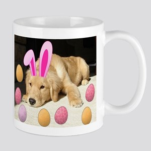 Easter Golden Retriever Puppy Mugs