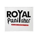 Royal Punisher Logo Throw Blanket