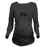 Royal Punisher Logo Long Sleeve Maternity T-Shirt