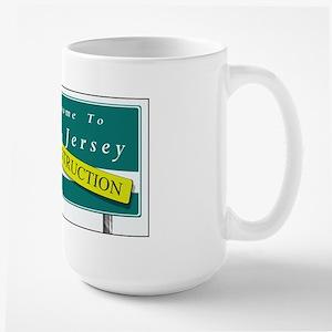 Construction NJ Funny Large Mug
